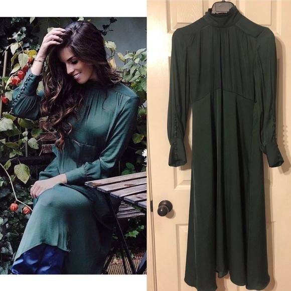 7c2bef76 Zara Aw17 Flowing midi dress. M_5bde49b5951996a2df04eb50